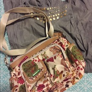 Lauren Conrad jumper with lily bloom purse
